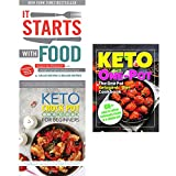 It starts with food [hardcover], keto crock pot cookbook and one pot ketogenic diet 3 books collection set