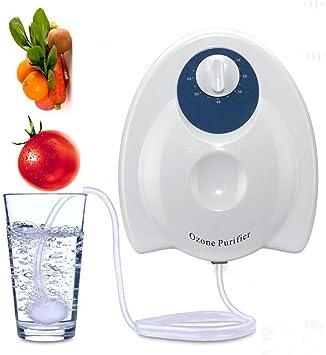Casa Generador de Ozono limpiador de frutas verduras esterilizador purificador de aire agua: Amazon.es: Salud y ...