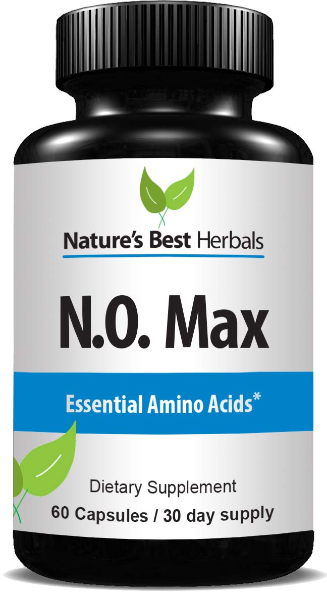 N.O. MAX Nitric Oxide Supplement L ARGININE, CITRULLINE Malate, AAKG, BETA Alanine Rapid Muscle Building NO Booster for Strength, Vascularity, Energy to Train Harder Build Muscle 60 Capsules