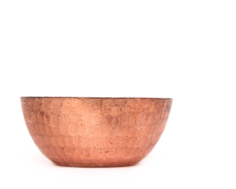 6,3/x 2,5 cm realizzata a mano colore marrone De Kulture Works Set di 3 portacandela in rame puro