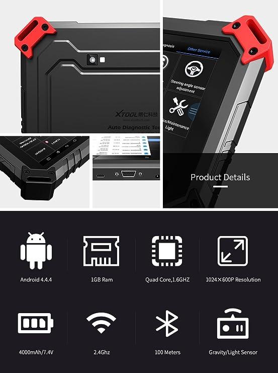 Programador del sistema electrónico X100 Pad2 de Xtool con 4 sistemas de diagnóstico: Amazon.es: Coche y moto