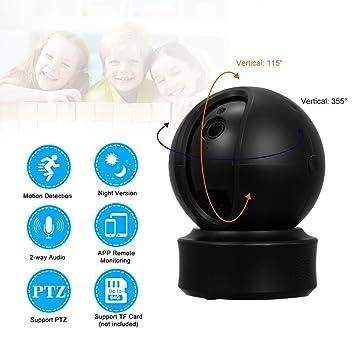 ZZKK 1080P Cámara WiFi Cámara IP Inteligente Monitor de bebé ...