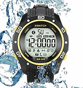 Qiufeng Outdoor Sports Waterproof Wrist Digital Bluetooth Smart Watch Bracelet Pedometer Sleep Monitor Phone Calls and Message Remind Night Visible Long Standby for Android and ISO Phone