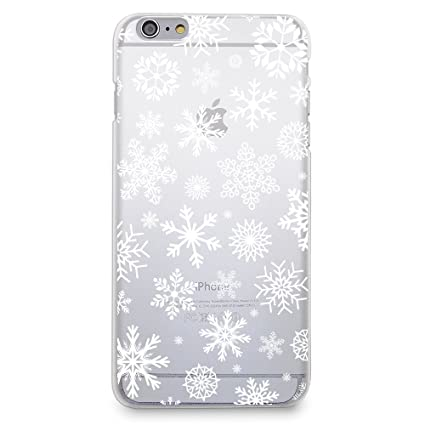casesbylorraine case for iphone 6iphone 6s christmas snowflakes case xmas holiday matte transparent