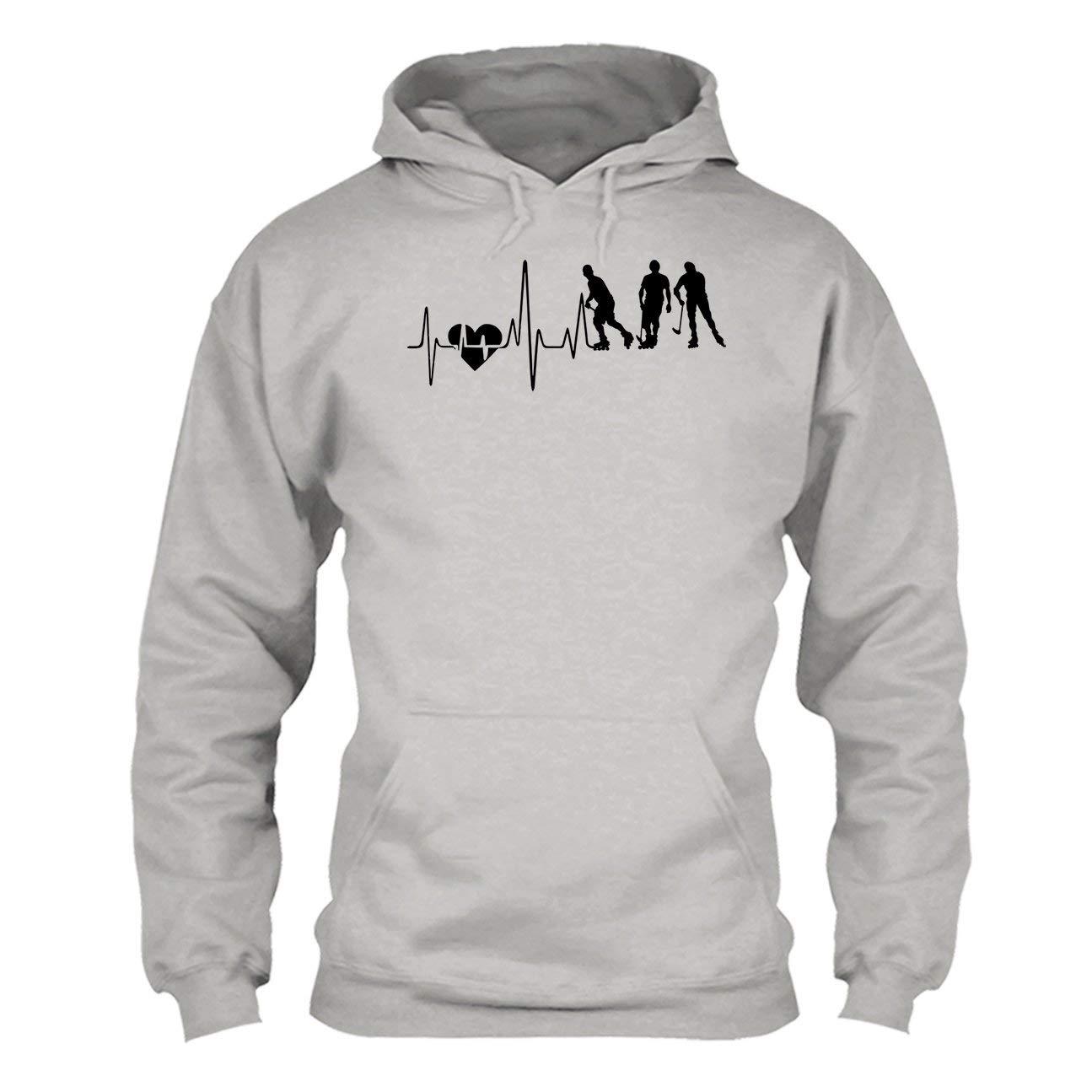 Roller Hockey Heartbeat Tee Shirt Hoodie Sweatshirt