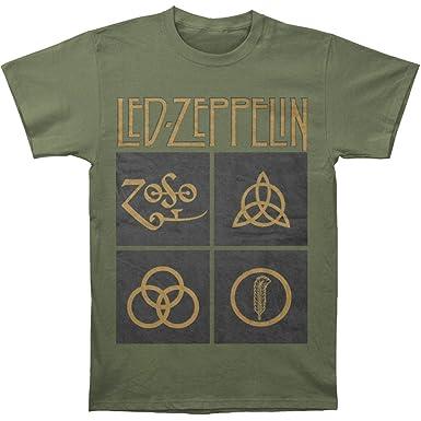 8f4a10f639d Amazon.com  Led Zeppelin Black Box Symbols T-Shirt  Clothing