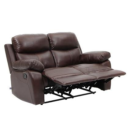 Genial Top Grain Leather Sofa Recliner Loveseats Comfortable Home Furniture In  Brown