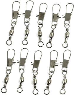10 Pcs 2.2 'Metal longue ligne de pêche pivotant solide Anneaux Connecteurs B2 #