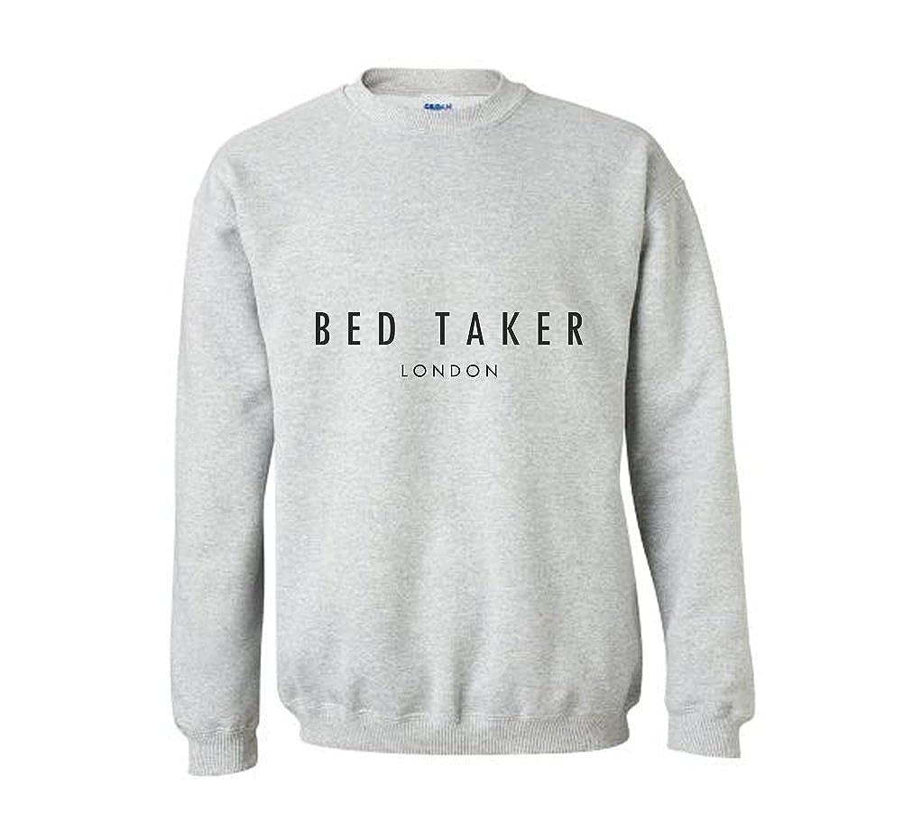 34a90b525ea66 Bed Taker Funny Ted Baker Inspired Lad Christmas Gift Idea Sweatshirt  Jumper Present Toddler Kids Boys Girls Unisex (M)  Amazon.co.uk  Clothing