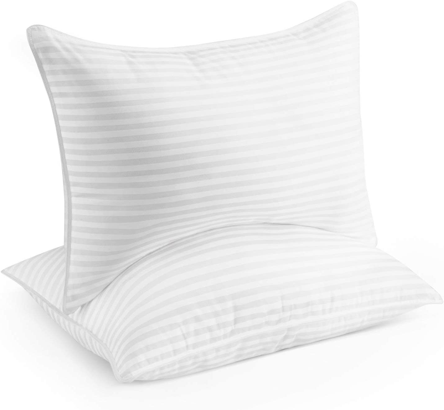 Beckham Hotel Collection Gel Pillow (2-Pack) - Luxury Plush Gel Pillow - Dust Mite Resistant & Hypoallergenic - Queen sleep pillows - 61Z7rY8IUjL - Sleep pillows review – buying guide and review for sleep pillows