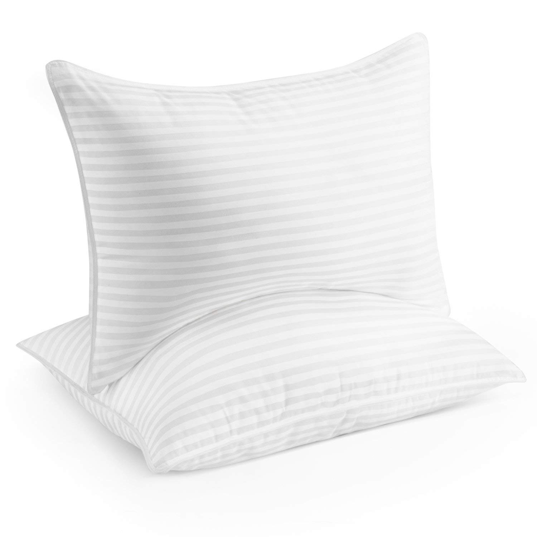 Beckham Hotel Collection Gel Pillow (2-Pack) - Luxury Plush Gel Pillow - Dust Mite Resistant & Hypoallergenic - Queen by Beckham Luxury Linens (Image #1)