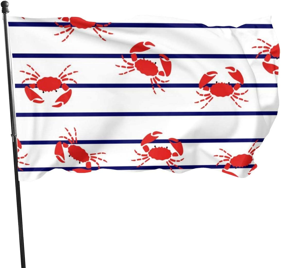 PhyShen Red Crabs Garden Flags House Decorations for Indoor & Outdoor,Durable Yard Flag(35 Ft)