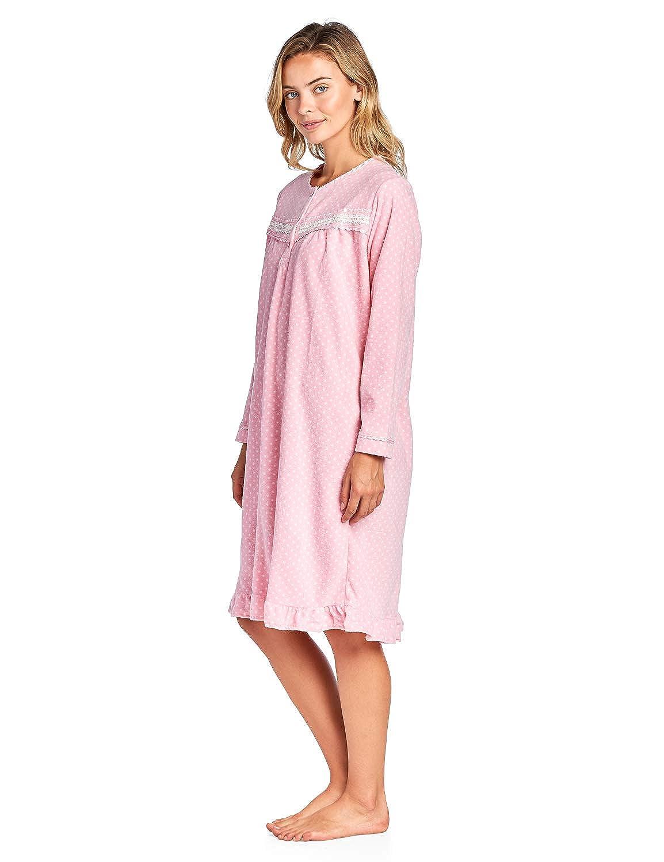 Casual Nights Womens Cozy Long Sleeve Fleece Nightgown Long Sleeve Micro Fleece Nightgown
