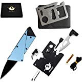 Credit Card Multitool Pocket Tool Kit Wallet Tool with Upgrade 18-IN-1 Credit Card Tool Survival kit,11-IN-1 EDC Multitool Ca