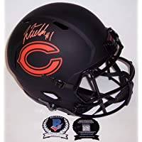 $429 » Justin Fields Autographed Hand Signed Riddell Chicago Bears Eclipse Speed Full Size Football Helmet - BAS Beckett Authentication