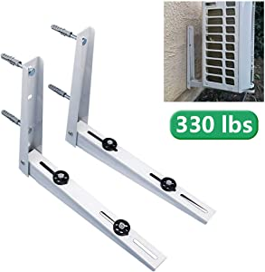 Forestchill Foldable Wall Mount Bracket, fits Mini Split Ductless Outdoor Unit Air Conditioner Condensing Unit Heat Pump System Condenser Universal Design, Support up to 330lbs, 18000-36000 BTU,1-4P