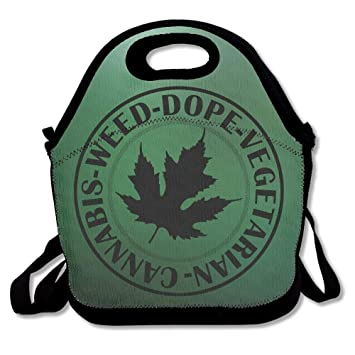 89243e7656 Dozili Cannabis Weed Dope Vegetarian Large   Thick Neoprene Lunch Bags  Insulated Lunch Tote Bags Cooler