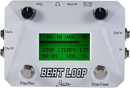Rowin LBL-01 LCD Beat Loop guitar looper with footswitch pedal