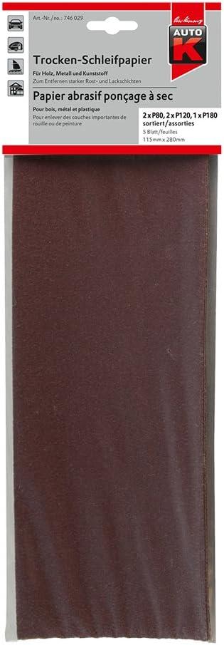 AUTO-K KWASNY 746 029 Trocken-Schleifpapier SET Holz Metall 230x280cm 1 Stk
