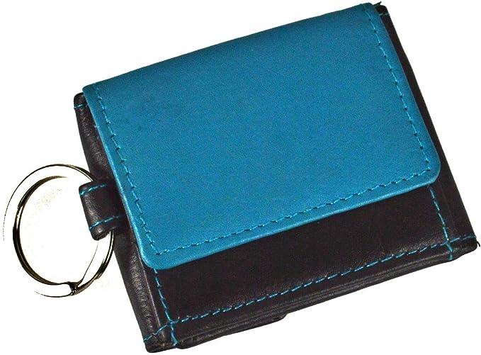 flevado Sportlich handliche Geldbörse mit Schlüsselanhänger Etui Sportgeldbeutel in schwarz blue