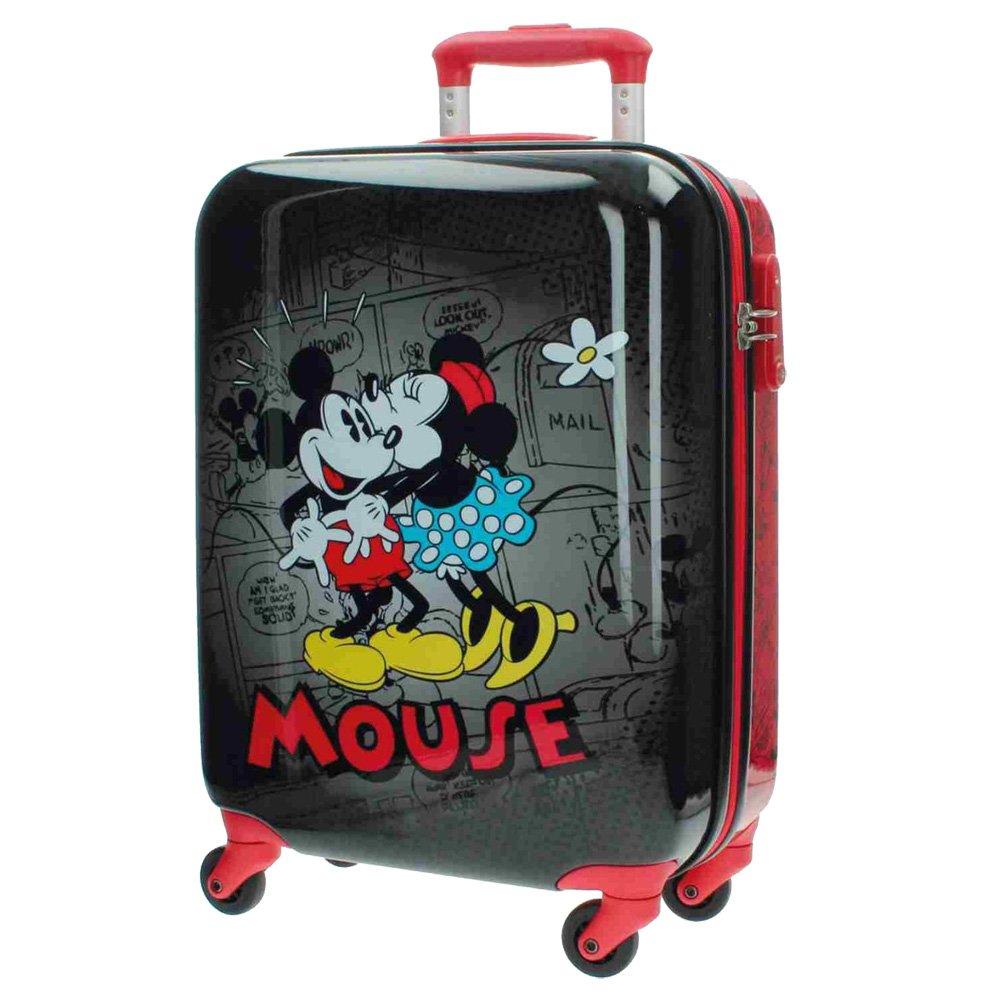 Disney Kabinenkoffer Mickey und Minnie Kindergepäck, 33 Liter, Schwarz