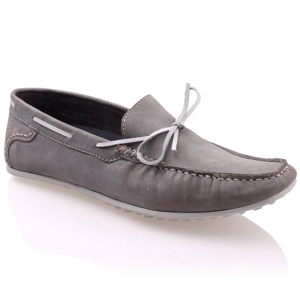 Unze Mocasines zapatos de cuero para hombre ' Grisby '