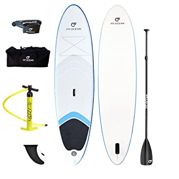 Tabla de paddle Malibu de Fit Ocean inflable de 15 cm de grosor, muy estable