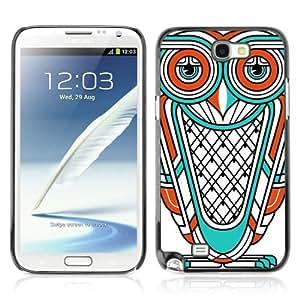 YOYOSHOP [Cool Owl Illustration Tattoo] Samsung Galaxy Note 2 Case by Maris's Diary