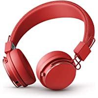 URBANEARS Plattan II Bluetooth Headphones, Wireless On-Ear Headphones, with 30+ Hours of Cord Free Playtime, Intuitive Control Knob and Convenient, Collapsible Design, Tomato