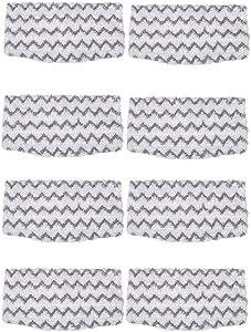 ESO 8 Packs Dirt Grip Microfiber Pads Replacement for Shark Steam Mop S1000 S1000A S1000C S1000WM S1001C Vacuum Cleaners
