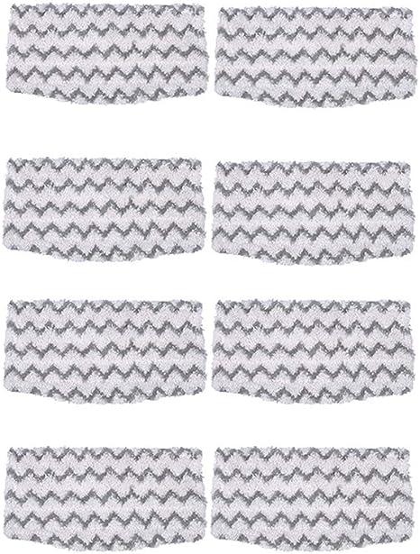 SNOWINSPRING 8 Packungen Dirt Grip Mikrofaserpads Als Ersatz f/ür Shark Steam Mop S1000 S1000A S1000C S1000WM S1001C Staubsauger