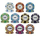 500pcs 14g Monte Carlo Poker Club Poker Chips Bulk - Choose Denominations