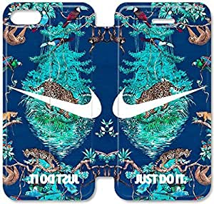 5 5s Cover,[Pu Leather Cover] Nike logo Theme New iPhone 5 5s Case Cover KA6031