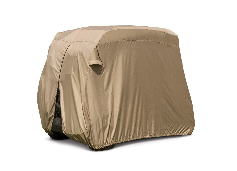 デラックス2 Passengerゴルフカートカバーでトープ、屋根に最大58インチ、Fits E Z GOクラブ、車とヤマハGモード、also fits有機Transit 's Elf B0158O0A84