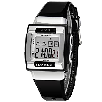 Cool Kids Wrist Watch Boys Digital Watches Timer Black Reloj Deportivo