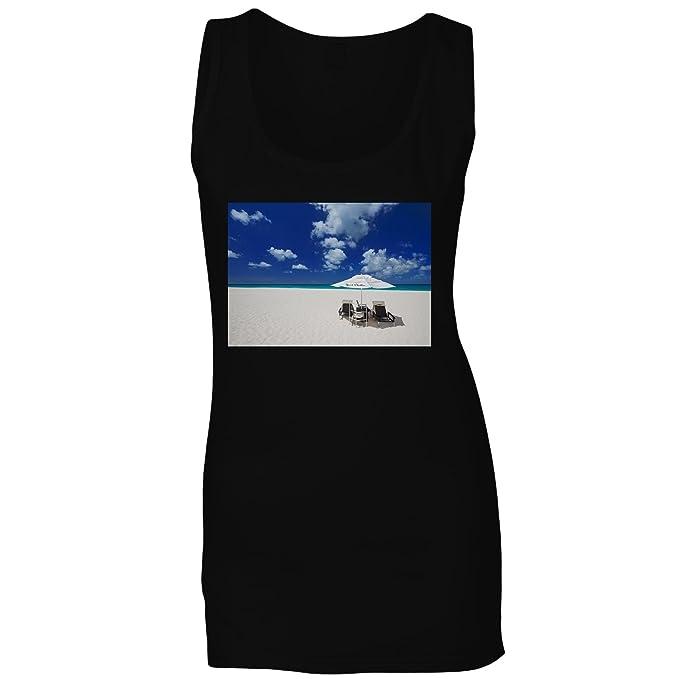 Sólo chillin ... viajar la playa del mundo camiseta sin mangas mujer b872ft