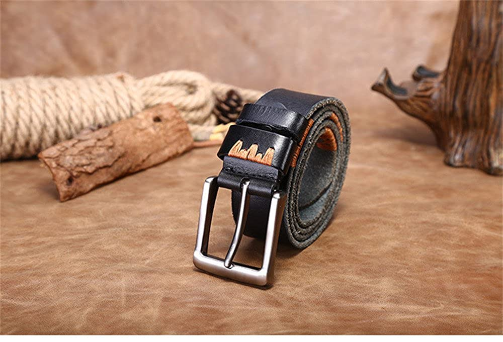 black, 115 cm 2018 Love and Team Genuine leather men leisure fashion retro belt