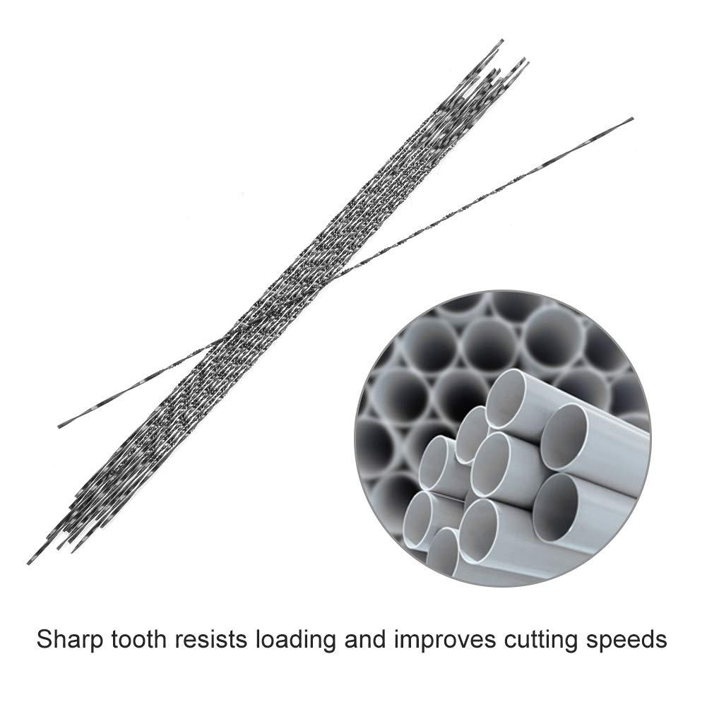 Alucy Pergamena in Acciaio al Carbonio da 12 Pezzi con Denti a Spirale per Legno Intaglio per seghe da Taglio in Metallo