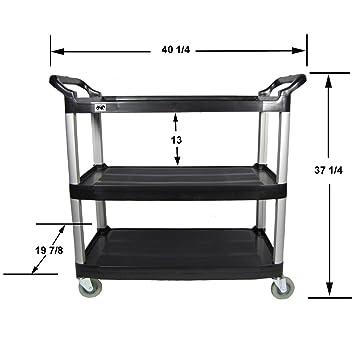 Amazoncom Crayata 3 Shelf Rolling Utility Cart with Heavy Duty