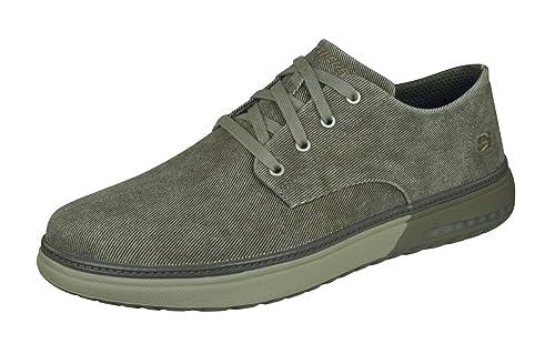 Skechers Mens Folten Brisor Canvas Cushioned Casual Oxford Shoes: Amazon.es: Zapatos y complementos