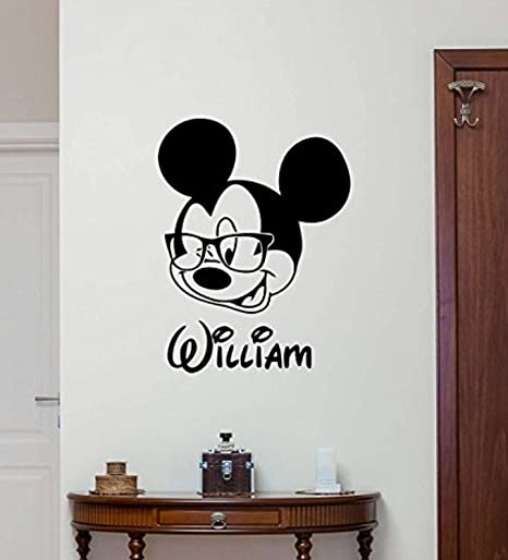 Mickey Mouse Custom Name Wall Sticker Removable  *3 Designs*