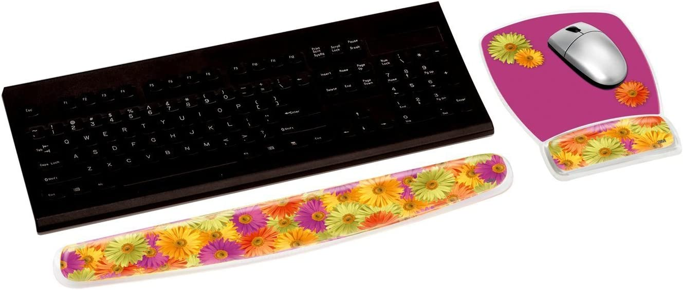 Easy to Clean Cover Fun Beach Design 18 WR308BH 3M Gel Wrist Rest for Keyboards Soothing Gel Comfort with Durable