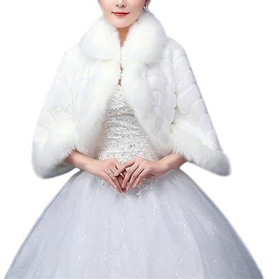 Faux Fur Wedding Bridal Wrap/Bridal Shrug/Shawl Formal Party Bolero