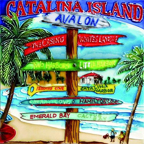 Catalina Island - Decorative Ceramic Art Tile - 8