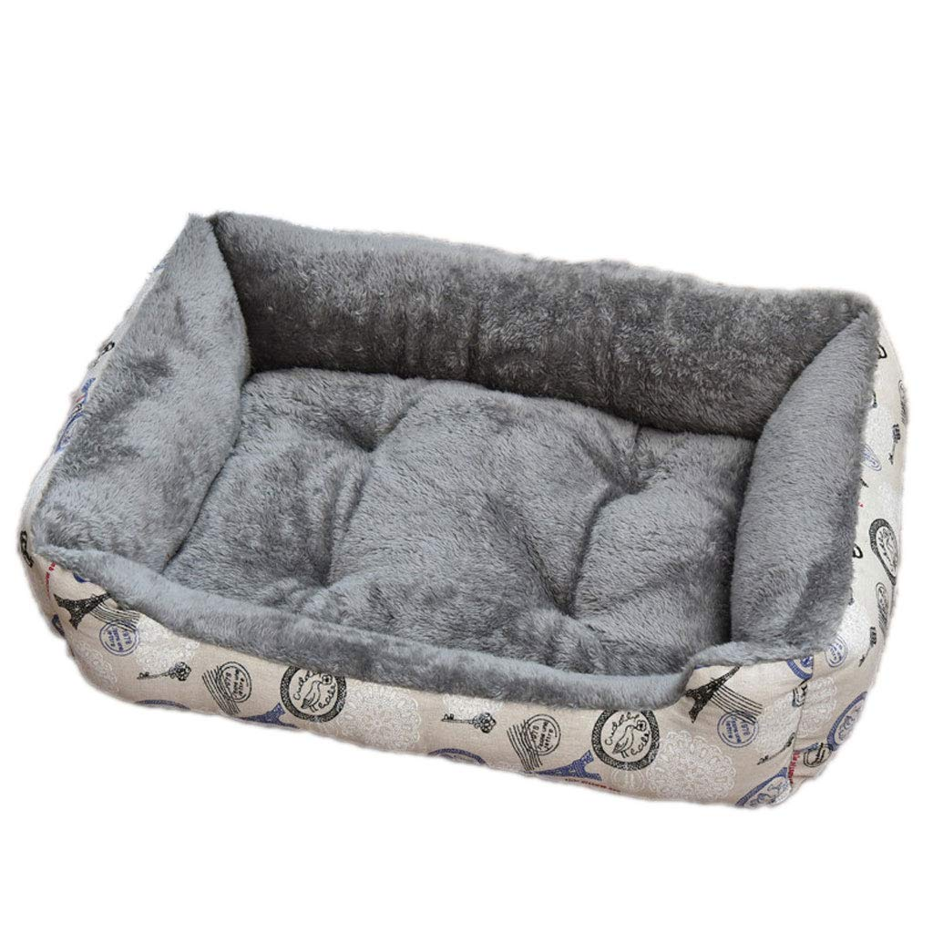 C M(705215cm)MXJ61 Kennel Winter Pet Mat Small Medium And Large Dog Bed Cat Nest Winter Warm Pad (color   B, Size   Xl(90  70  15cm))