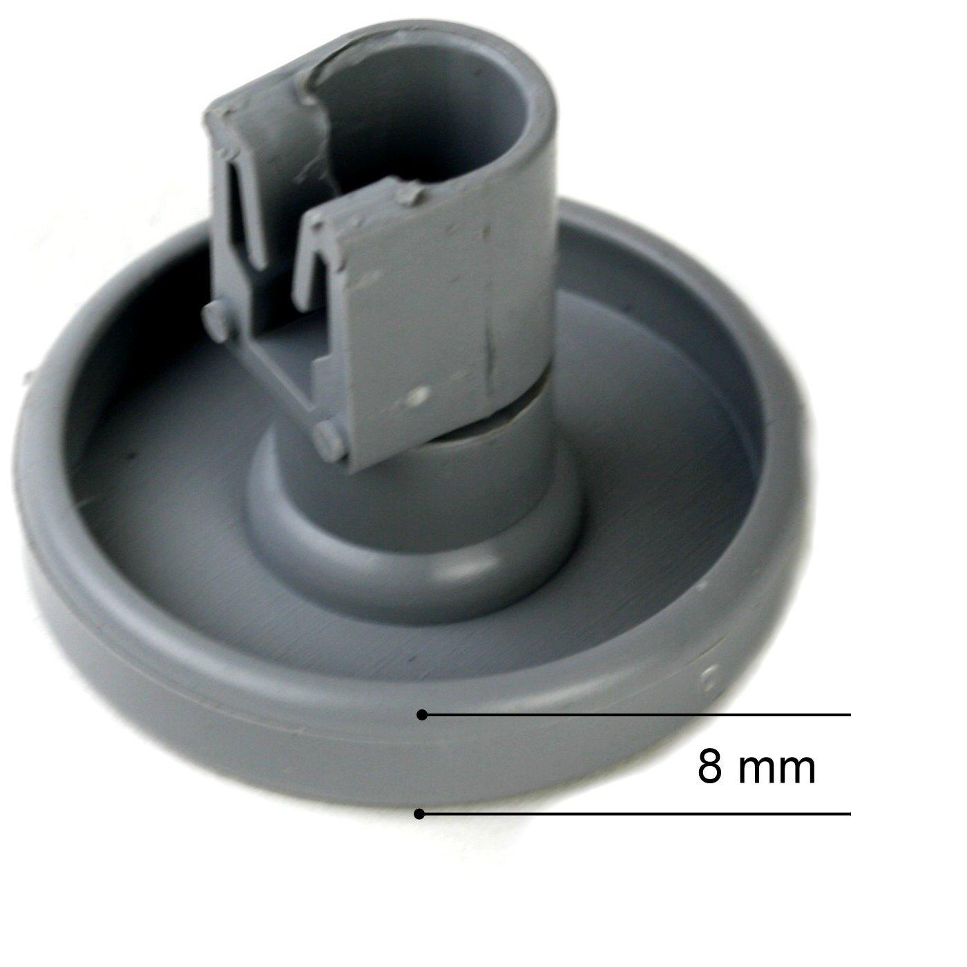 Zanussi 4x Untere Korbräder Für AEG Favorit Privileg Geschirrspüler Ersatzteil
