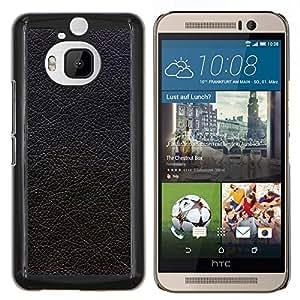 Queen Pattern - FOR HTC One M9+ / M9 PLUS - black textured leather hide grey - Cubierta del caso de impacto con el patr???¡¯???€????€?????n