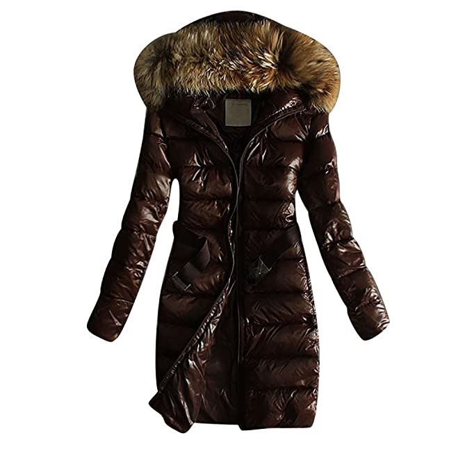 wholesale dealer e7dd4 bbad8 LvRao Donna - piumini lunghi - cappotto con cappuccio ...