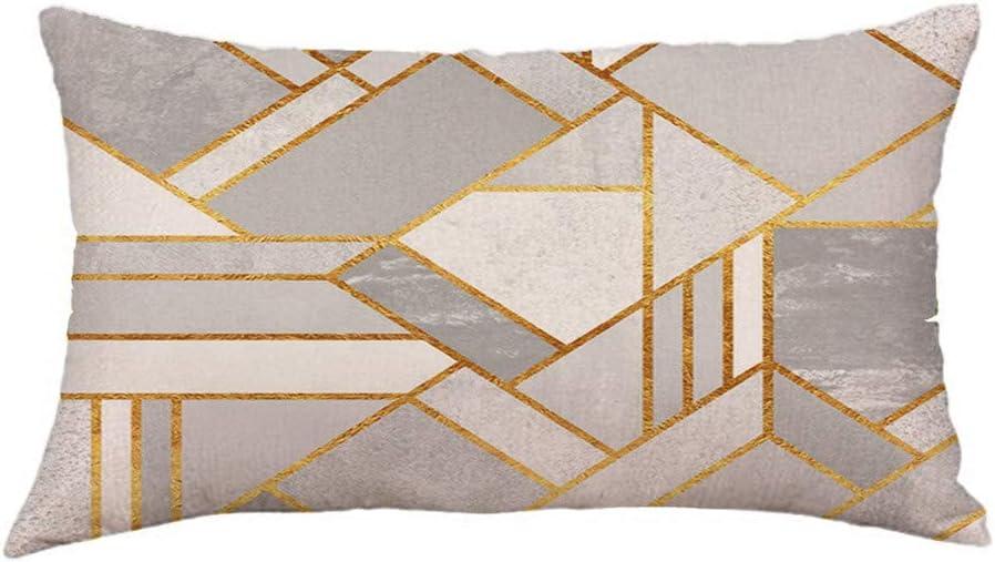 SUDADY-Home Funda de Almohada de Moda Tejido s/úper Suave Felpa Corta Forma Rectangular Modernos Geom/étricas Fundas Cojines 30x50cm Creativa Decoraci/ón del Hogar