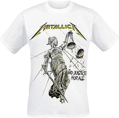 Metallica Justice Hombre Camiseta Blanco, Regular: Amazon.es: Ropa y accesorios
